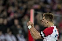 O výhře Slavie nad Jihlavou 2:0 rozhodly dvě trefy kanonýra Milana Škody.