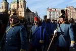 Průvod historických vojenských jednotek připomněl 250 let od narození Radeckého.
