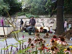 Založení třetí komunitní zahrady v Nuslích.