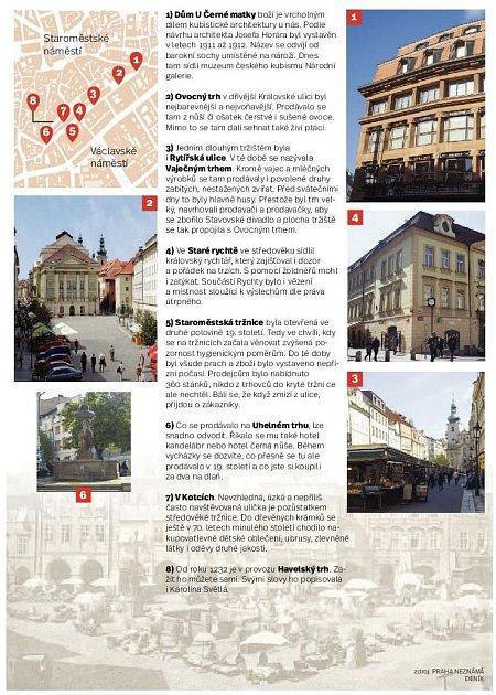 Staroměstská tržiště. Infografika.