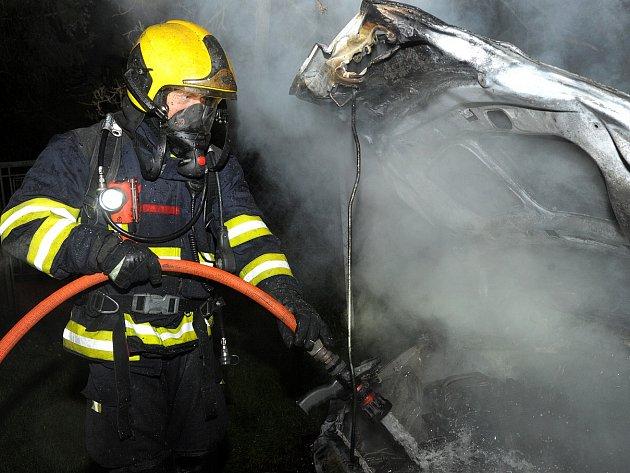 Požár osobního vozu.