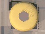 Návrhy na zlatou skleněnou oválnou galerii
