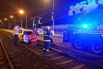 Nehoda v Plzeňské ulici.