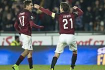 Nejhezčím gólem v životě, jak po zápase sám přiznal, rozhodl sparťan Aleš Čermák derby s Bohemians.