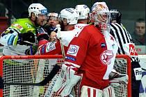 Brankář HC Slavia Praha Alexandr Hylák.