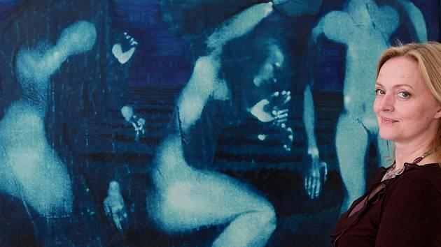 Zahájení výstavy Rudolfa Němce k jeho nedožitým osmdesátinám – Topičův salon.