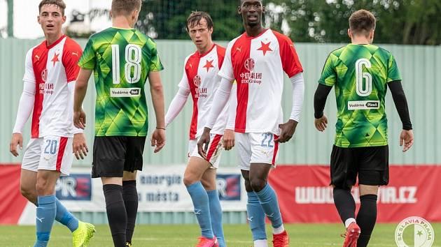 Abdallah Sima při zápase proti Plzni B.