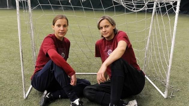 Irena a Lucie Martínkovi, hráčky letenského klubu a české reprezentace.
