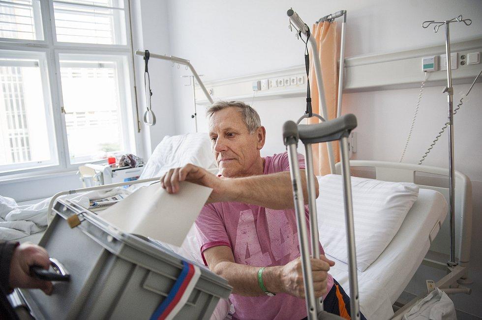 Volení pracientů v Thomayerově nemocnici. 26.1.2018