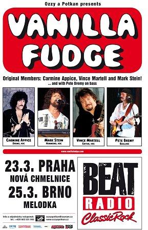 Pozvánka na koncerty americké rockové kapely Vanilla Fudge.