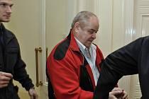 Městský soud v Praze projednával rozsáhlou kauzu vražd, daňových úniků, podvodů a zpronevěry, jíž vévodí nález těl dvou zavražděných lidí ve stodole v Záhornici na Nymbursku z října roku 2013. Na snímku jeden z pěti obžalovaných Václav Štork.