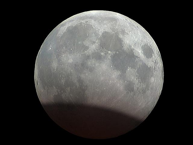 Simulace zatmění Měsíce 7. 8. 2017