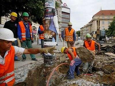 Pdle statistiky je každý čtvrtý až pátý stavební dělník v Praze z Ukrajiny.