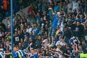 Zápas 3. kola první fotbalové ligy mezi týmy FC Slovan Liberec a AC Sparta Praha se odehrál 13. srpna na stadionu U Nisy v Liberci. Na snímku fanoušci Liberce.