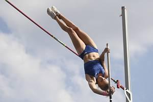 Vítězka Katie Nageotteová z USA na Pražské tyčce 2019.