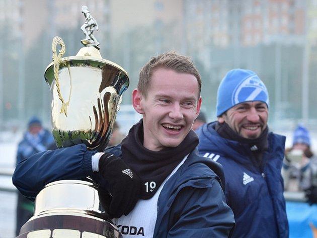 Šampiony Tipsport ligy se stali hráči Mladé Boleslavi, na snímku Jan Chramosta.