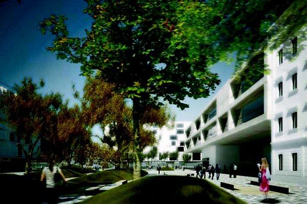Plán na kancelářské, obchodní a rezidenční centrum Smíchova.