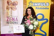Vítězkou letošního jedenáctého ročníku prestižního ocenění Žena regionu se za Hlavní město Praha stala Petra Řehořková, která mimo své zaměstnání podporuje řadu charitativních projektů. Zdroj: Prime Communications