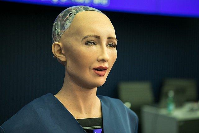 Robotka Sophia.