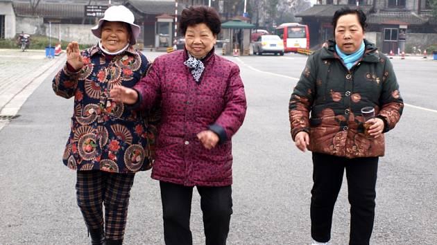 Číňanky v sečuánském Čchengtu.