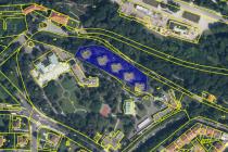 Zákres dotčeného pozemku na katastrální mapě.