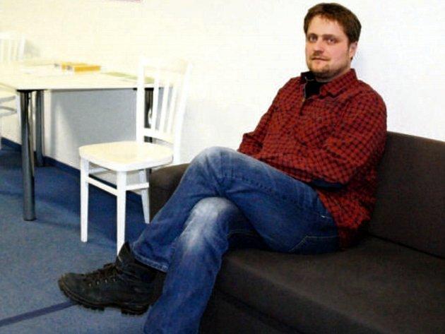 Ředitel Centra pro integraci cizinců Vladislav Günter vnových prostorech na Karlínském náměstí vPraze.