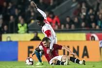 Zápas 14. kola FORTUNA:LIGY mezi Sparta Praha a Slavia Praha, hraný 4. listopadu v Praze.
