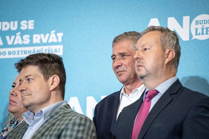 Ivo Vondrák na tiskové konferenci v sídle ANO, 9. října 2021 v Praha.