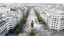 Nového vzhledu se Václavské náměstí dočká v několika letech.  Zdroj: CAMP