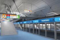 Vizualizace stanice metra D.