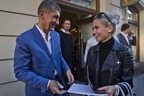 Ministr financí Andrej Babiš pokřtil 9. října v Praze svoji knihu.