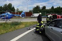 Vážná dopravní nehoda na Pražském okruhu