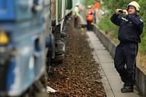 Nehoda na kolejích. Ilustrační foto.