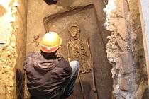 Dokumentace raně středověkého hrobu.