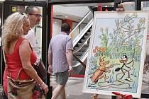 Výstava kreseb a ilustrací Ondřeje Sekory.