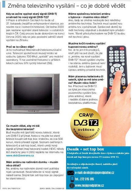 Změna televizního vysílání. Infografika.
