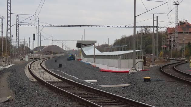 Nové koleje na nádraží Praha-Vršovice.