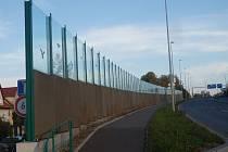 Protihluková stěna v Karlovarské ulici