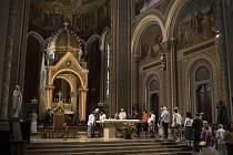 V kostele Sv. Cyrila a Metoděje proběhla mše.