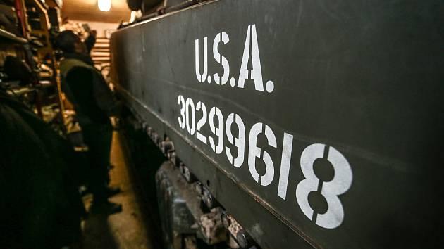 Americký tank M4 Sherman patří Pavlu Roglovi.