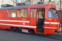 Speciální tramvaj T3.