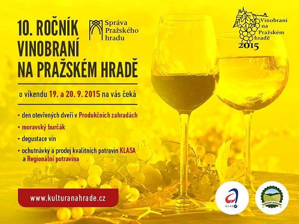 Vinobraní na Pražském hradě - pozvánka na desátý ročník.