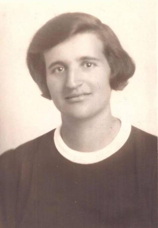 Marie Baranová, portrét z roku 1938.