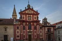 Bazilika a klášter sv. Jiří na Pražském hradě.