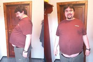REŽISÉR Tomáš Magnusek začíná hubnout: 178 cm, 144 kg, BMI 45,4. Diagnóza: morbidní obezita. Doporučeno: dieta StředaForm + denně nachodit 10 tisíc kroků. Kontrola opět v červnu.