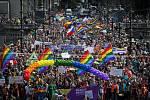 Prahou prošel 16. srpna 4. ročník Prague Pride.