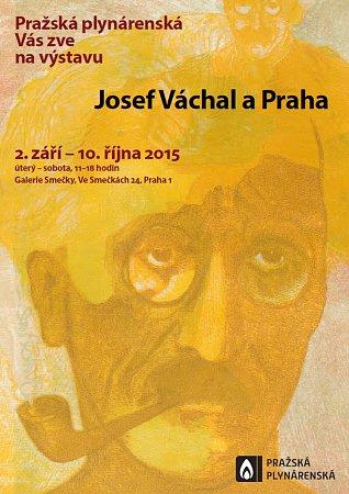 Pozvánka na výstavu snázvem Josef Váchal a Praha vGalerii Smečky vPraze 1.