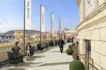 Vizualizace posezení, které vznikne na střeše Rudolfina.