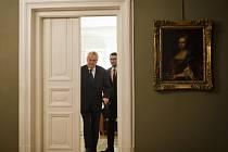 Prezident Miloš Zeman a mluvčí Jiří Ovčáček.