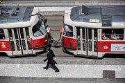 Pražské tramvaje. Ilustrační foto.